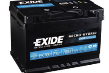 Exide – new battery range