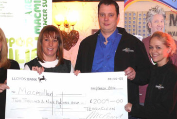 TerraClean network raises £2000 for Macmillan Cancer Support