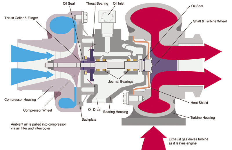 What's Inside A Turbo Professional Motor Mechanic. What's Inside A Turbo Cutaway Diagram. Wiring. Intercooler Engine With Turbocharger Diagram At Scoala.co