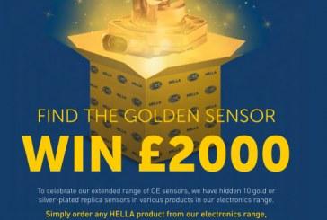 Win £2000 With Hella's Golden Sensor!