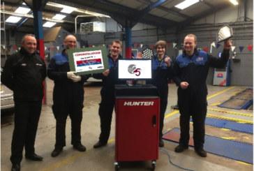 Workshop Wins Hunter Wheel Alignment Prize