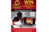 Banner Bullseye Lottery Sticker Promotion