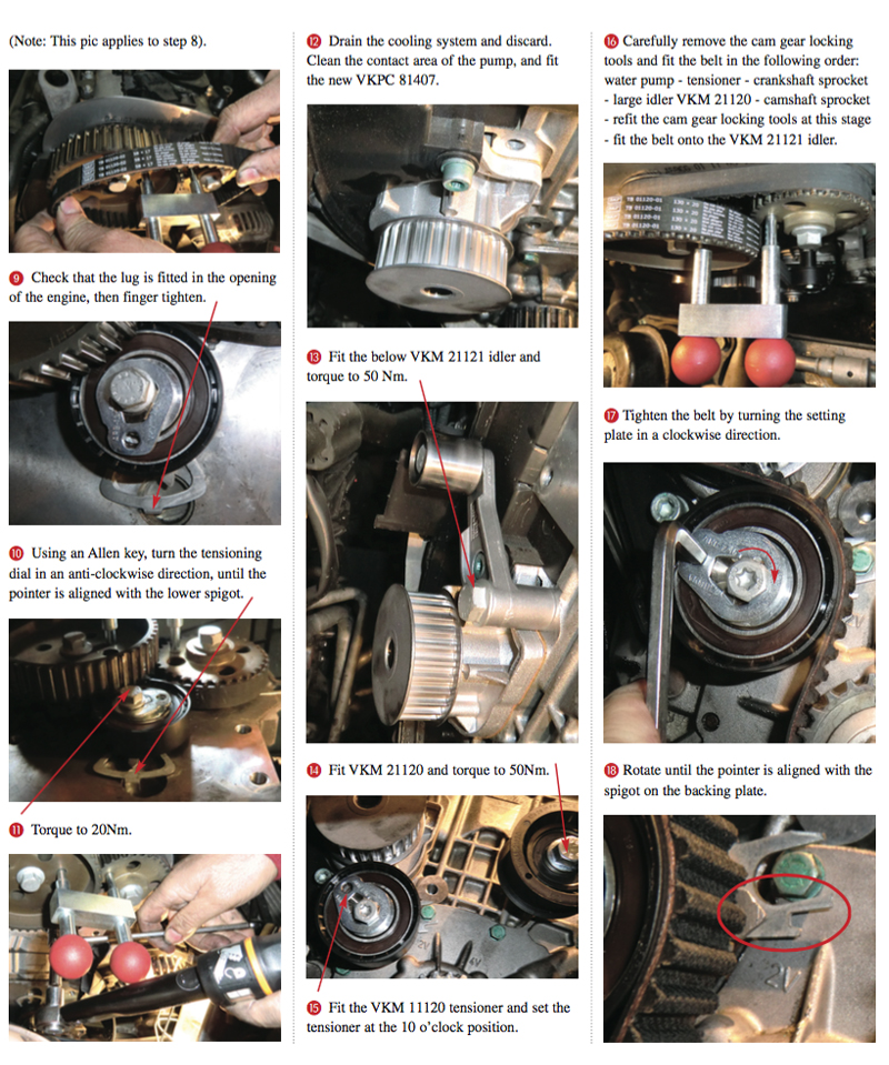 Belt Water Pump Replacement Guide Professional Motor Mechanic