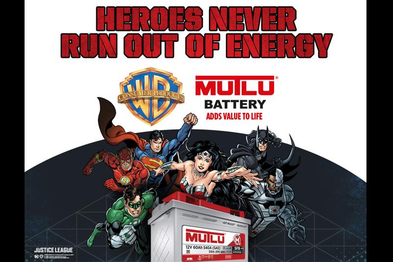 Mutlu Battery Announces DC Super Heroes Collaboration