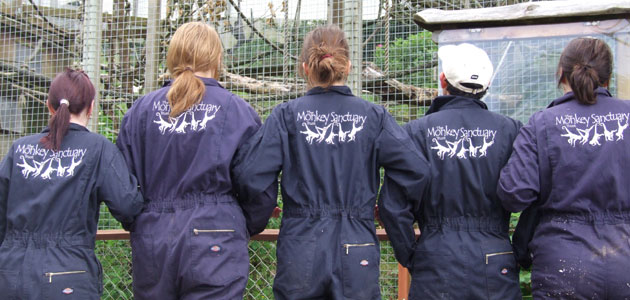 Dickies donates coveralls to volunteers at monkey sanctuary