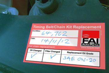 FAI – Timing kit labels