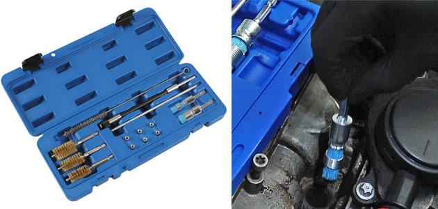 Laser Tools – Diesel Injector Seat Cleaner Set