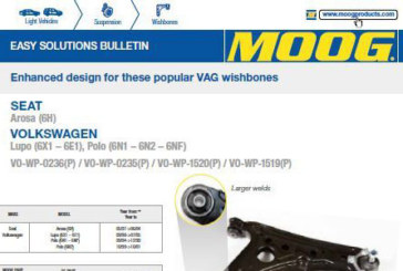 MOOG re-engineers OE design of VW suspension wishbone