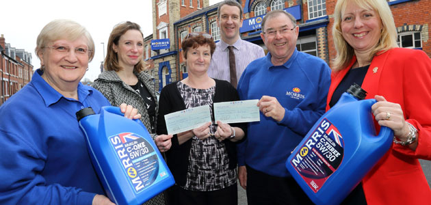 Oil blender helps to raise £12,000 for Air Ambulance Services