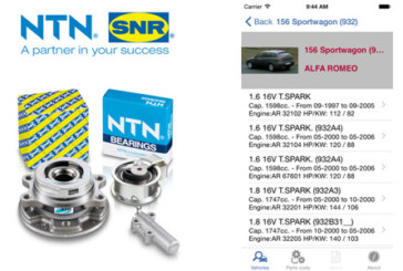 NTN-SNR – iParts application