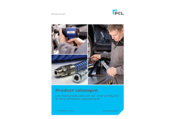 PCL – Tyre equipment catalogue