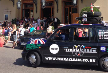 Charity success for rally-winning 'TerraClean on Tour' team