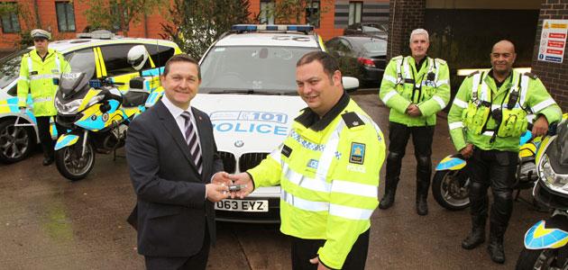 TyreSafe presents tread depth gauges to Britain's largest motorway police group