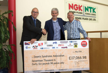 Damon Hill commends NGK's charity efforts