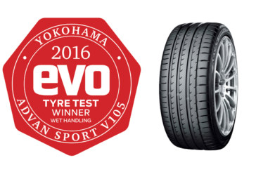 Yokohama Tops EVO Magazine's Wet Tyre Tests