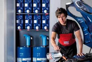Clean and Practical Oil Cabinet from Liqui Moly