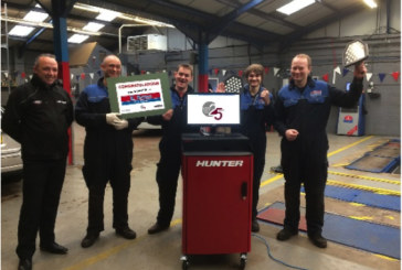 Workshop Wins Hunter Wheel Alignment Prize