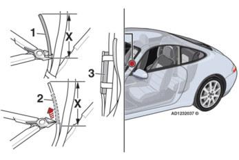 Key remote control operational range poor Porsche 911