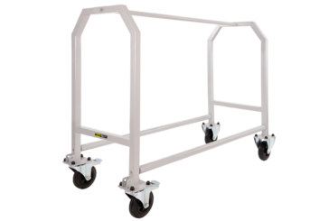 Single tier wheel and tyre trolley