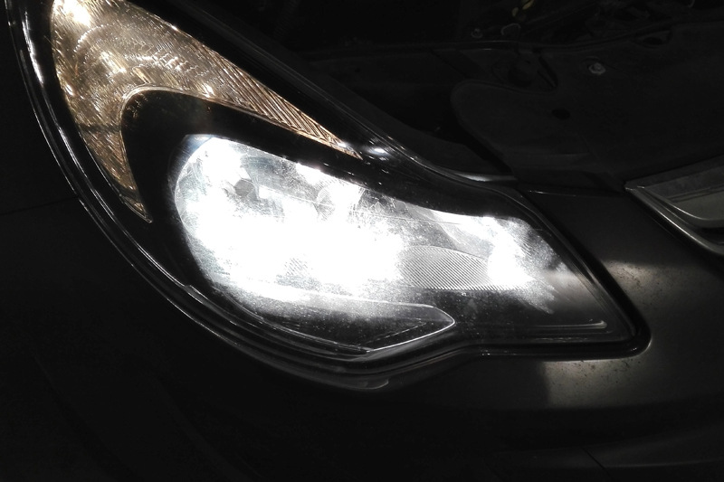 Hella runs through a headlamp bulb replacement