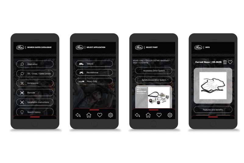 Gates introduces Automotive Catalogue App