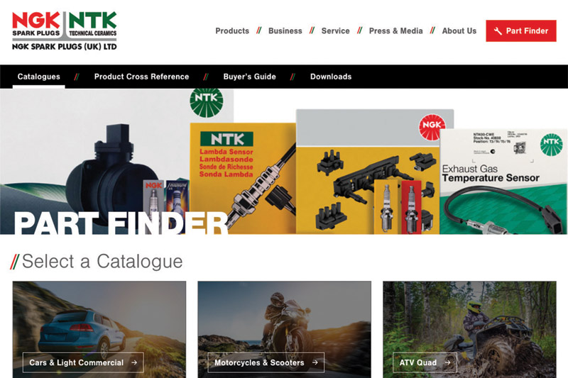 NGK updates Part Finder facility