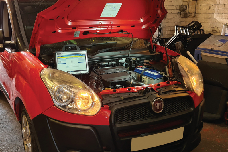 DPF Doctor tackles ex-Royal Mail Fiat Doblo