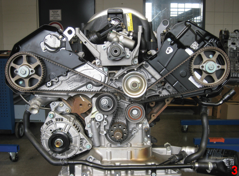 How to replace timing belt on a 2.8L 30V engine