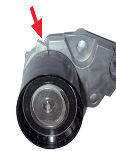 how to replace a timing belt on various daewoo models professional Timing Belt Purpose the belt tensioner indicator, in its release position, should rest against the stop on the right (shown