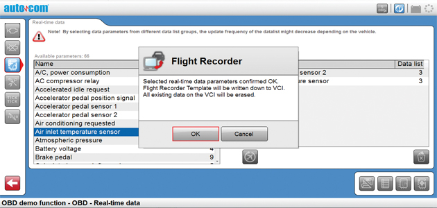 Autocom CPD+ tool - how to use the 'flight recorder
